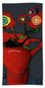 Abstract Floral Art 90 Beach Towel