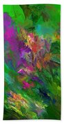 Abstract Floral Fantasy 071912 Beach Towel