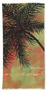 Abstract Floral Fauna Palm Tree Leaf Tropical Palm Splash Abstract Art By Megan Duncanson  Beach Towel