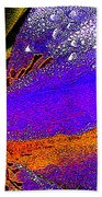 Abstract Flower Beach Towel