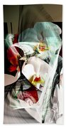 Abstract Flowers Of Love #1 Beach Towel