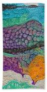 Abstract Garden Of Thoughts Beach Sheet by Julia Apostolova