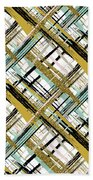 Abstract Gold Lines Beach Towel