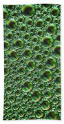 Abstract Green Alien Bubble Skin Beach Towel
