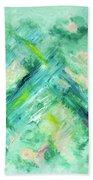 Abstract Green Blue Beach Towel