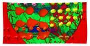 Abstract Haert 80218 Beach Towel