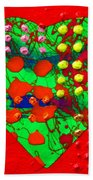Abstract Haert 80218 Beach Towel