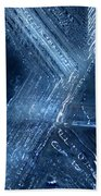 Abstract Ice. Darkness Beach Towel