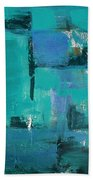 Abstract In Blue Beach Towel