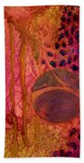 Abstract In Gold And Plum Beach Towel
