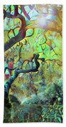 Abstract Japanese Maple Tree 3 Beach Towel