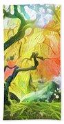 Abstract Japanese Maple Tree 5 Beach Sheet