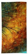 Abstract Landscape Art Passing Beauty 5 Of 5 Beach Towel