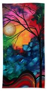 Abstract Landscape Bold Colorful Painting Beach Sheet