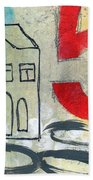 Abstract Landscape Beach Towel by Linda Woods
