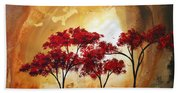 Abstract Landscape Painting Empty Nest 2 By Madart Beach Towel