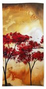 Abstract Landscape Painting Empty Nest 2 By Madart Beach Towel by Megan Duncanson