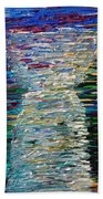 Abstract Latte Stone Beach Towel