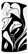 Abstract Lilies Beach Towel