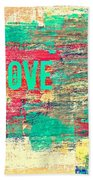 Abstract Love V2 Beach Sheet
