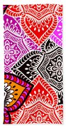 Abstract Mandala Floral Design Beach Towel