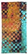 Abstract Modern Art - Pieces 1 - Sharon Cummings Beach Sheet