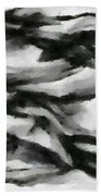 Abstract Monochome 162 Beach Towel
