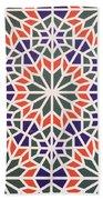 Abstract Moroccon Tiles Colorful Beach Towel