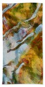 abstract mountains I Beach Towel