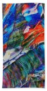 abstract mountains II Beach Towel