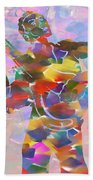 Abstract Musican Guitarist Beach Towel