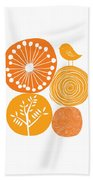 Abstract Nature Orange Beach Towel