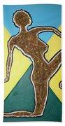 Abstract Nude Ebony In Heels Beach Towel