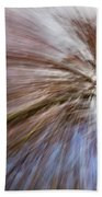 Abstract Of A Spring Tree In Bloom. In Camera Effect. Beach Towel