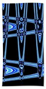 Abstract Of Blue Clock Works Beach Towel