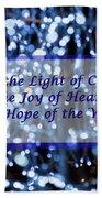 Abstract Of Blue Lights Text Beach Sheet