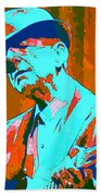 Abstract Of Leonard Cohen Beach Towel