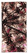 Abstract Of Low Growing Shrub  Beach Towel