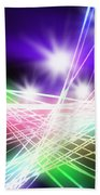 Abstract Of Stage Concert Lighting Beach Towel