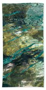 Abstract Of The Underwater World. Production By Nature Beach Towel