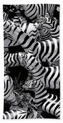 Abstract Of Zebras Statue In Various Sizes  Beach Towel