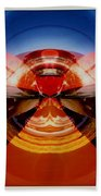 Abstract Old Car Spare Tire Beach Towel