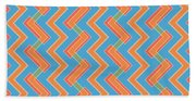 Abstract Orange, Red And Cyan Pattern For Home Decoration Beach Sheet