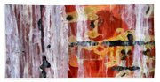 Abstract Painting Untitled #45 Beach Sheet