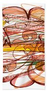 Abstract Pen Drawing Eight Beach Towel
