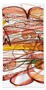 Abstract Pen Drawing Eight Beach Sheet
