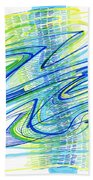 Abstract Pen Drawing Forty Beach Towel