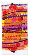 Abstract Pen Drawing Fourteen Beach Towel