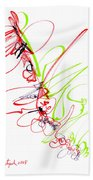Abstract Pen Drawing Seventy Beach Towel