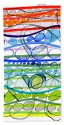 Abstract Pen Drawing Sixteen Beach Towel